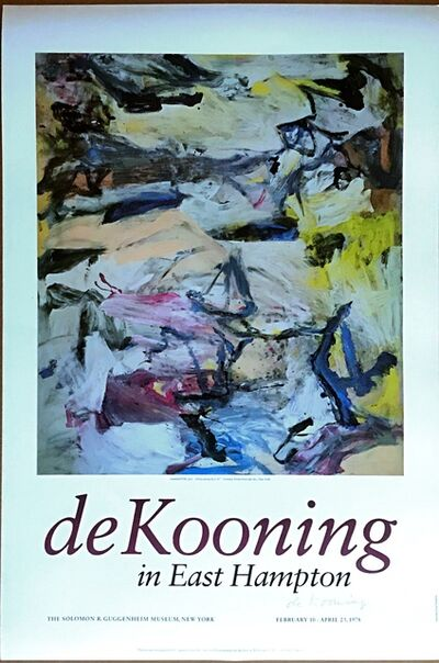 Willem de Kooning, 'de Kooning in East Hampton (Hand Signed), from the Alan York Estate', 1978