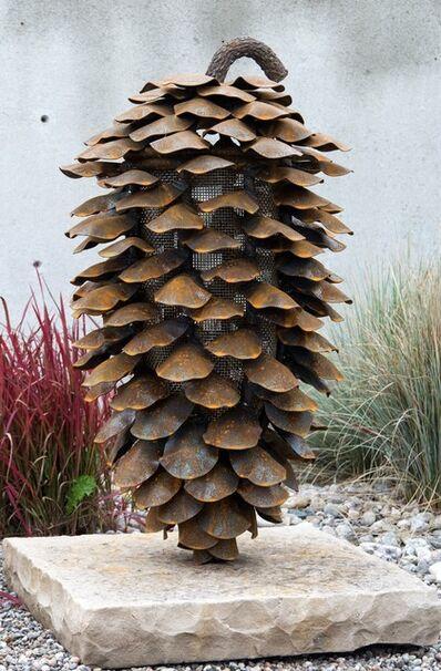 Floyd Elzinga, 'Vertical Fire Cone With Stone Base', 2018