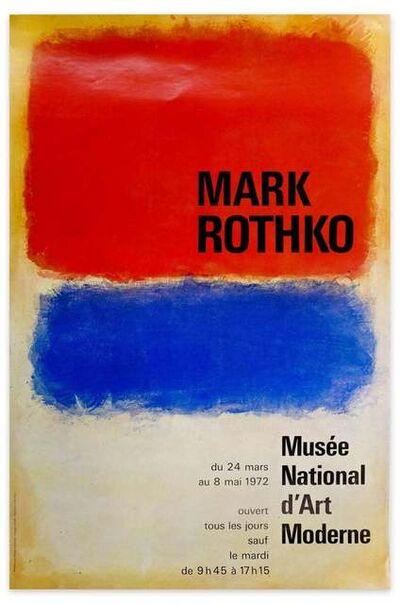 Mark Rothko, 'Mark Rothko Exhibition Poster - Musée national d'Art moderne, Paris', 1972