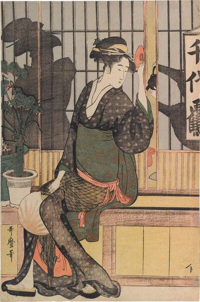 Kitagawa Utamaro, 'The Chiyozuru Teahouse: Waitress Orise', ca. 1794-95