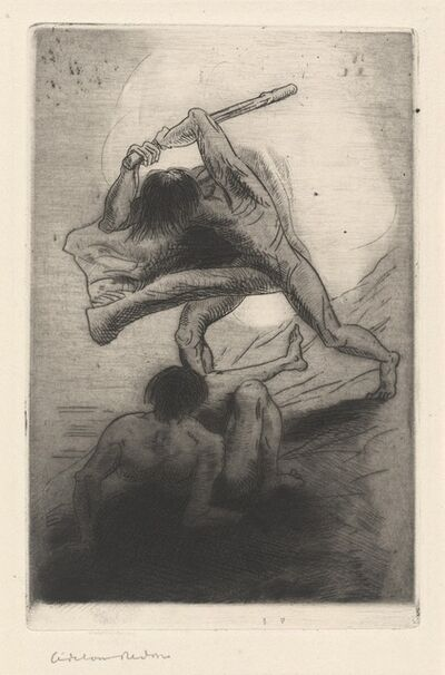 Odilon Redon, 'Cain and Abel', 1886