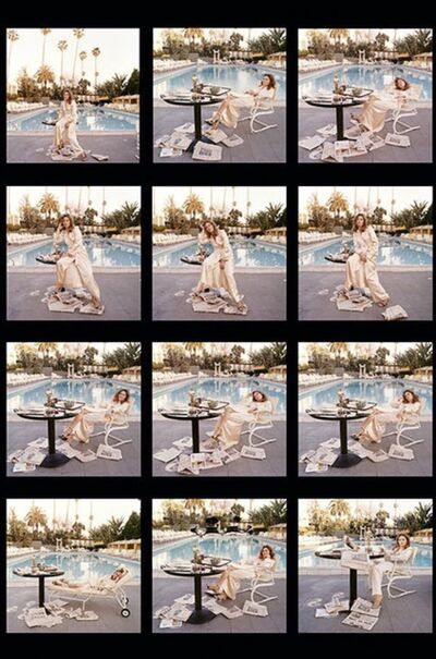 Terry O'Neill, 'Faye Dunaway Oscar Contact Sheet', 1977