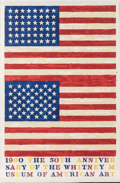 Jasper Johns, 'Two Flags (Whitney Anniversary)', 1979