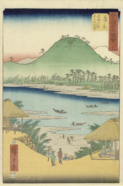 Utagawa Hiroshige (Andō Hiroshige), 'Kanbara', 1855