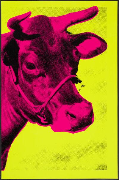 Paul Stephenson, 'Cow IV- Fluorescent Pink On Fluorescent Yellow', 2021