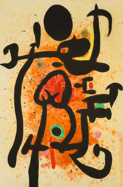 Joan Miró, 'The Flame Thrower', 1974