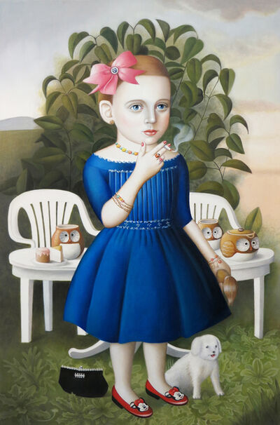 Amy Hill, 'Girl with Tea Set'