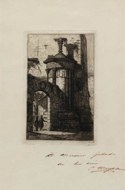 Charles Meryon, 'Entree du couvent des capucins francais a Athenes (from Athenes aux XVe, XVIe, et XVIIe Siecles)', 1855