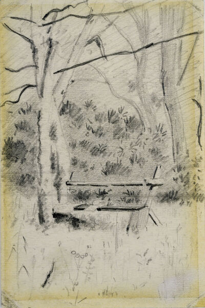 Louis Michel Eilshemius, 'The Bench'