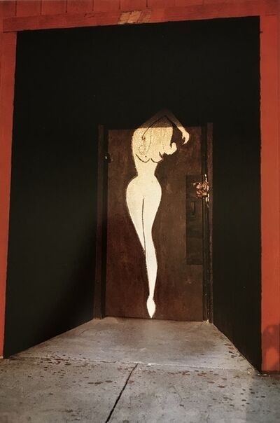 William Eggleston, 'Untitled (Woman's Nude Silhouette on Red Door)', 1972
