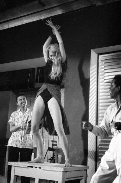 "Edward Quinn, 'Brigitte Bardot, during filming "" Et Dieu crea la femme"", Nice ', 1956"