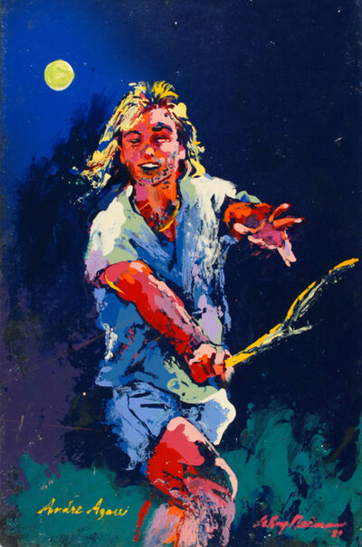 LeRoy Neiman, 'Andre Agassi', 1989