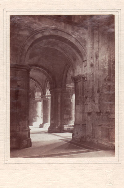 Frederick Henry Evans, 'Aisle Archway, Priory of St. Bartholomew the Great', Neg. date: 1912 c. / Print date: 1912 c.