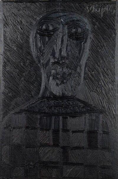 Francis Newton Souza, 'Untitled (Black head with checkerboard shirt)', 1965