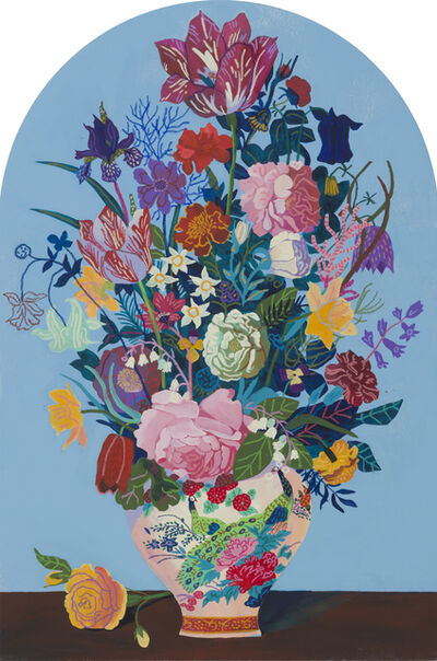 Andy Dixon, 'Blue Bouquet (Gravestone) ', 2018