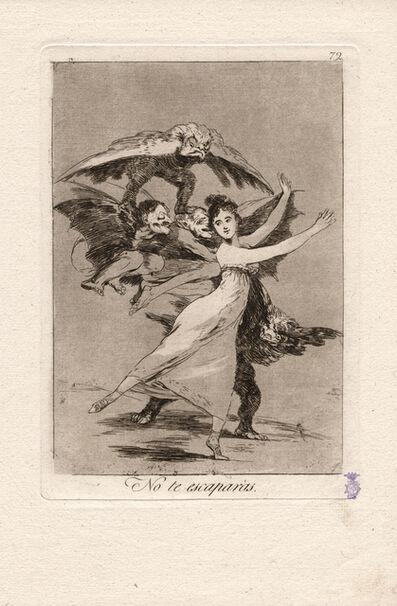 Francisco de Goya, 'No te escaparás. (You will not escape.)', 1796-1797