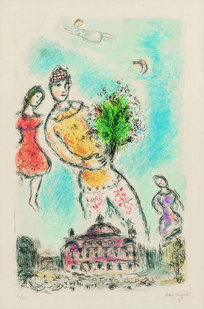 Marc Chagall, 'Dans le ciel de l'Opéra', 1980
