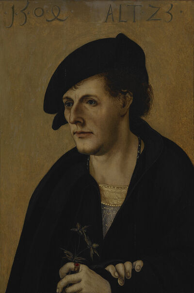 Hans Schäufelein the Elder, 'Portrait of a Young Man', 1504