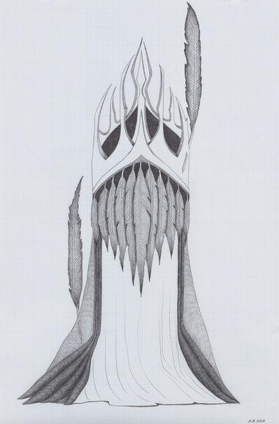 Afruz Amighi, 'Headdress for the Unborn (drawing) ', 2017