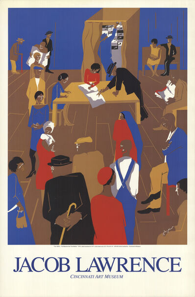 Jacob Lawrence, 'The 1920's...The Migrants Cast Their Ballots', (Date unknown)
