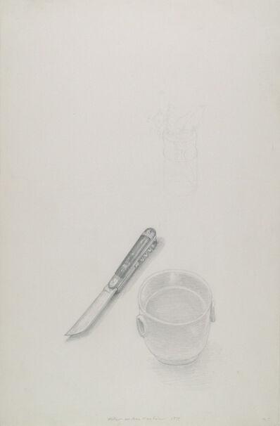 Meret Oppenheim, 'Kleine weiße Schale und Messer', 1975