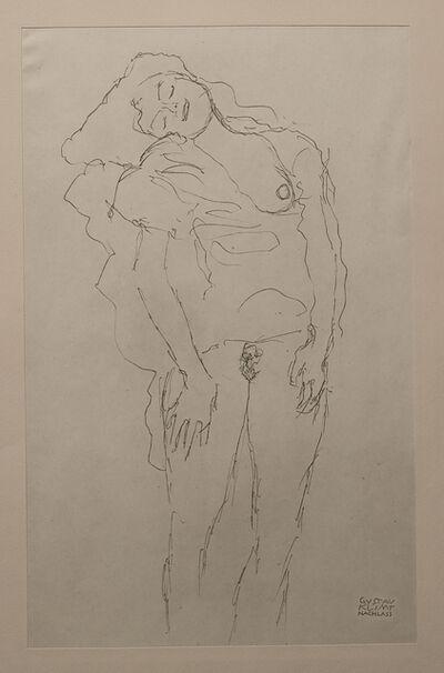 Gustav Klimt, 'Woman, Standing - Niyoda Paper', 1919