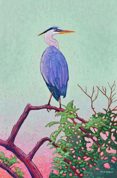 Nicholas Bott, 'Great Pacific Heron', 2019