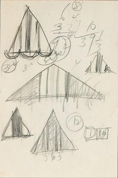 Barnett Newman, 'CR 326, graphite sketch on paper', 1969