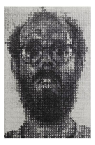 Chuck Close, 'Self Portrait for The Archives of American Art, Smithsonian Institution, from the Collection of Jacob and Aviva Baal Teshuva', 1996