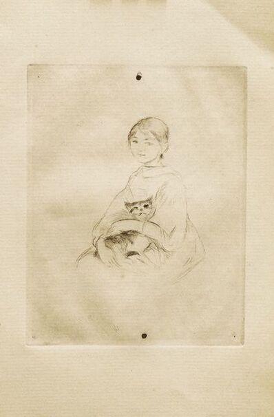 Berthe Morisot, 'Jeune Fille Au Chat', 1888-89