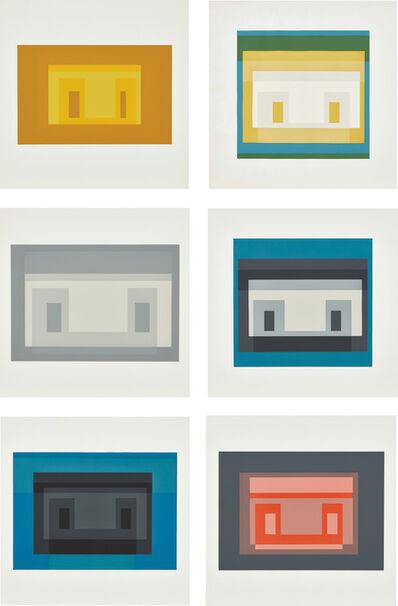 Josef Albers, 'Variants I; II; III; IV; VII and X, from Ten Variants (D. 173.1-.4; 173.7; 173.10)', 1966