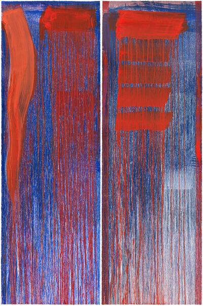 Pat Steir, 'Diptych B', 2015