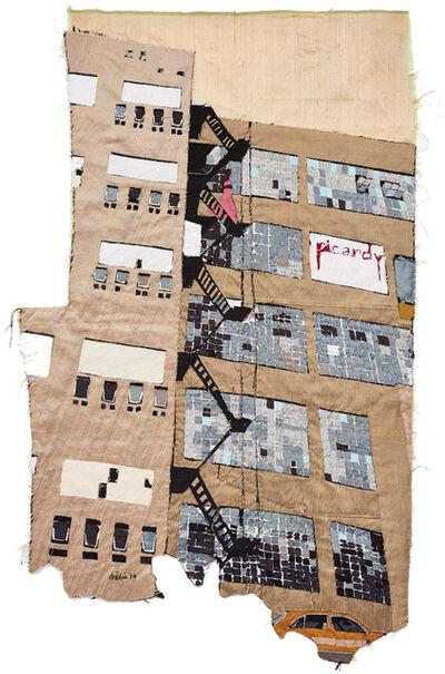 Billie Zangewa, 'fire escape 2', 2014