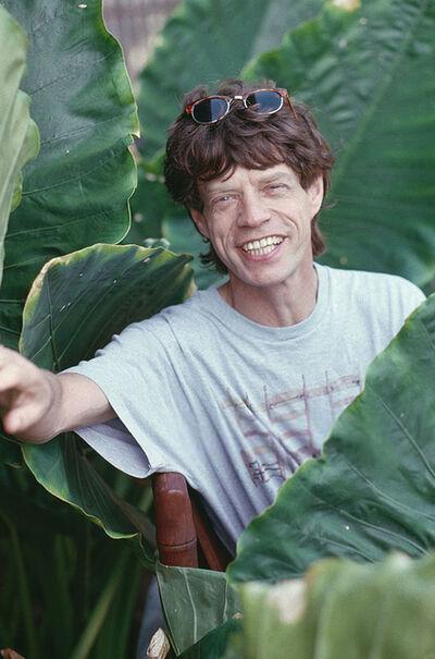 Slim Aarons, 'Mick Jagger, Roving Stone', 1989