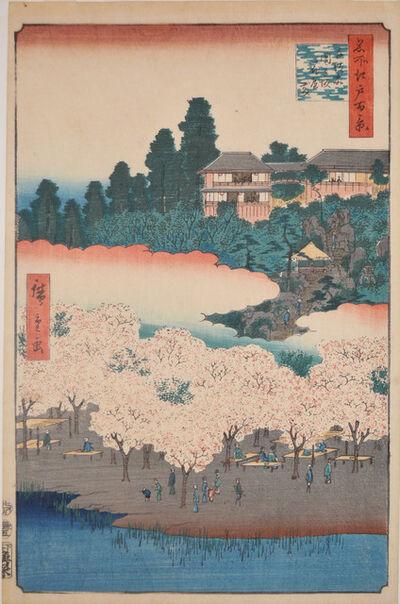 Utagawa Hiroshige (Andō Hiroshige), 'Flower Pavilion and Dango Slope, Sendagi', 1856