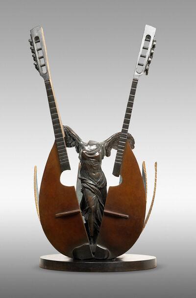 Arman (1928-2005), 'La Mandoline (Untitled, coupe de mandoline enserrant la Victoire de Samothrace)', 2003