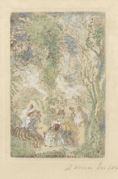 James Ensor, 'Le Jardin d'Amour (Minnetuin) (Cramer, Delteil, Elesh, Taevernier 61)', 1888