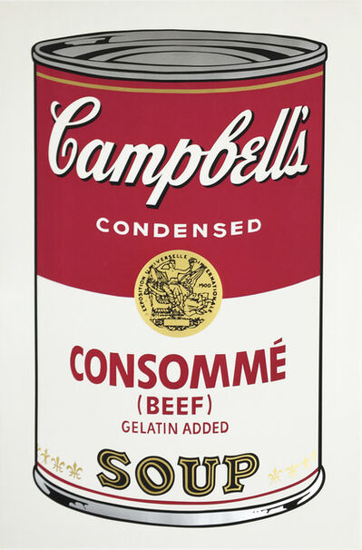 Andy Warhol, 'Consommé Beef, from Campbell's Soup I', 1968