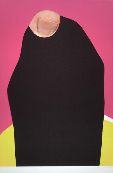 John Baldessari, 'Foot and Stocking (With Big Toe Exposed): Kim', 2010
