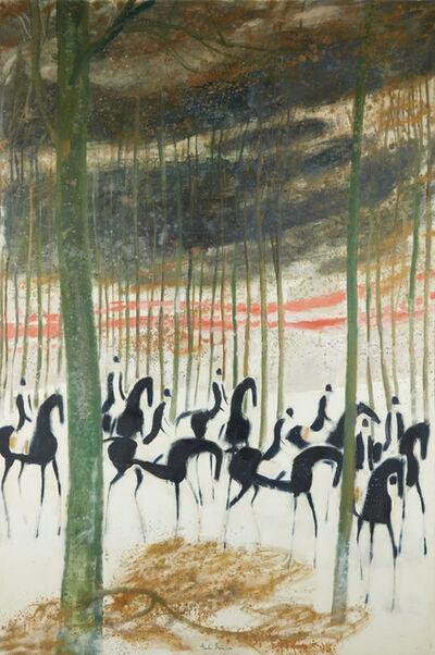 Andre Brasilier, 'Cavaliers sur la Neige', 1969