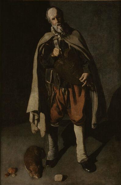 Georges de La Tour, 'Hurdy-Gurdy Player with a Dog', 1622-1625
