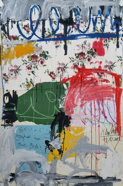 """Christophe, '""""Abstract composition with Flowers""""', 2015"""