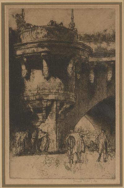 Sir Frank Brangwyn, 'Buttress of the Pont Neuf, Paris, [Gaunt 279A]', 1921