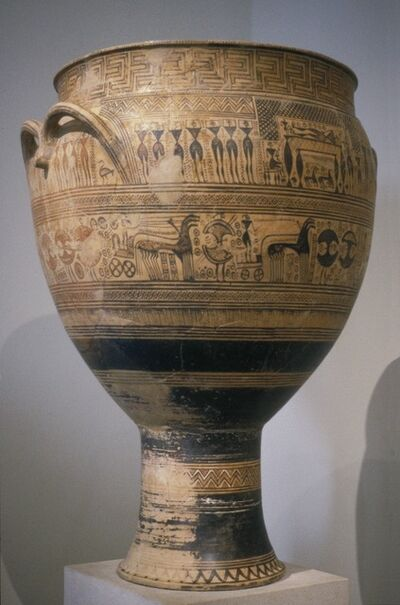 Attributed to the Hirschfield Workshop, 'Funerary Krater', ca. 750-735 B.C.