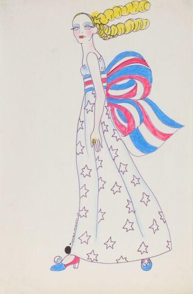 Delia Cancela, 'Chica abanderada, rojo, blanco, azul, amarillo', 1967