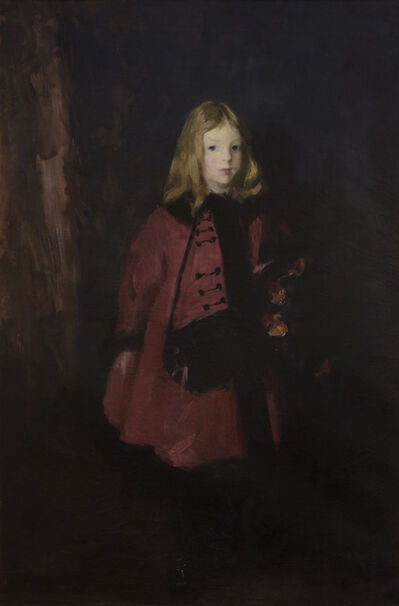 Robert Henri, 'Girl with Muff', ca. 1900