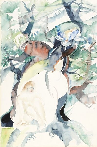 Lotte Berger-Maringer, 'Woman in the Tree', 1987