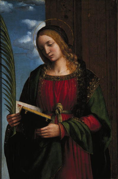 Bernardino Luini, 'Saint Barbara', 1510-1512