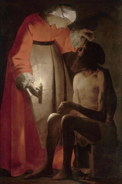 Georges de La Tour, 'Job and his Wife', 1625-1650