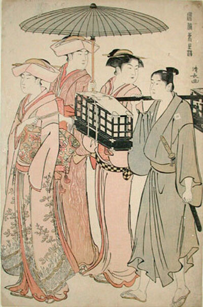 Torii Kiyonaga, 'Customs of the Eastern Capital', ca. 1783